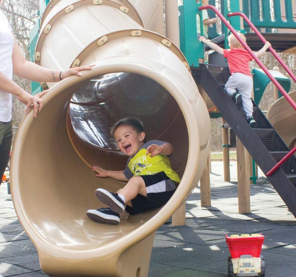 playground slide bay view center